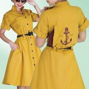 Mustard bowling 🎳 dress